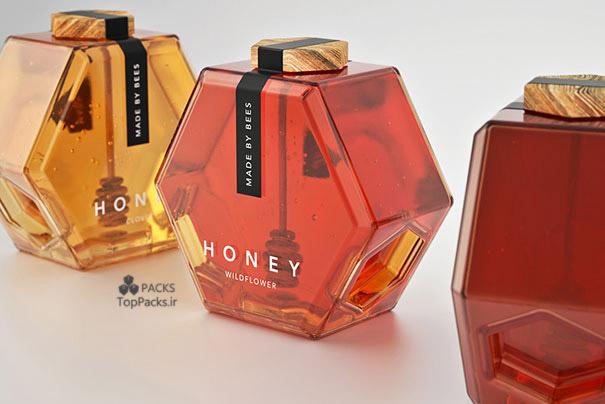 بسته بندی خلاقانه عسل