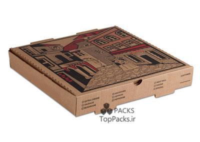 نمونه طراحی جعبه پیتزا