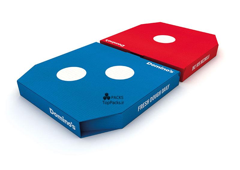 نمونه طراحی جعبه پیتزار