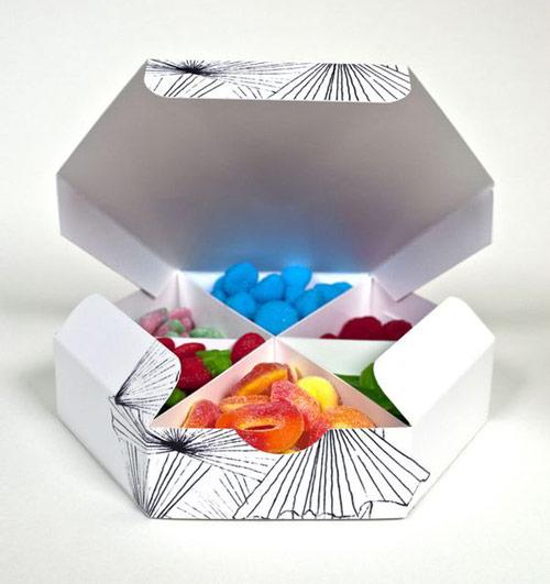 جعبه آجیل شش ضلعی
