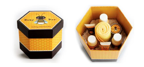 جعبه هدیه عسل شش ضلعی
