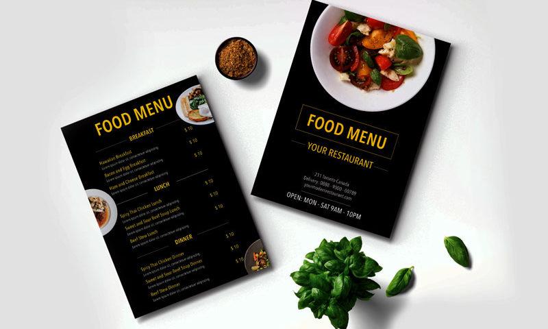طرز نوشتن منوی رستوران و اصول طراحی منو
