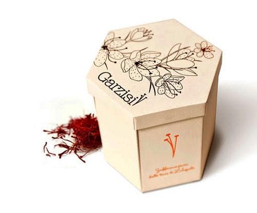 جعبه زعفران شش ضلعی