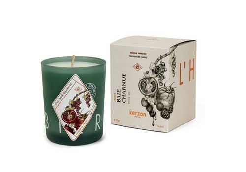 جعبه سفید شمع با چاپ مشکی
