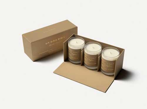 جعبه سه تایی کرافت شمع برش دار