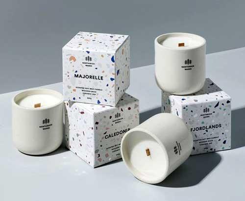 جعبه شمع با دیزاین نقطه ای