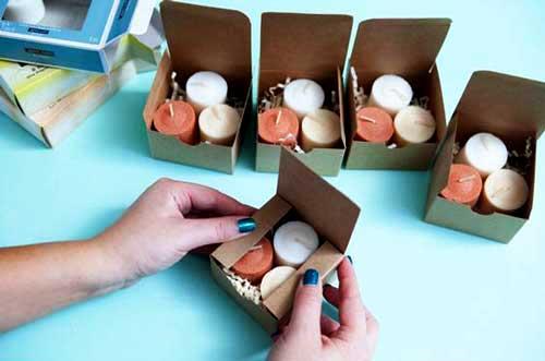 جعبه شمع کرافت سه تایی