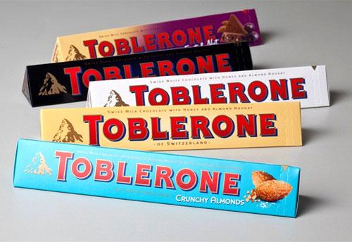 جعبه مثلثی شکلات توبلرون