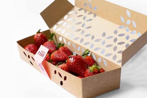 جعبه خاص میوه با سلفون داخلی به همراه پنجره
