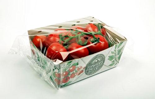 جعبه داخلی منقسم میوه به همراه سلفون