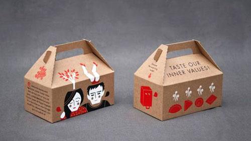 جعبه دسته دار کرافت میوه