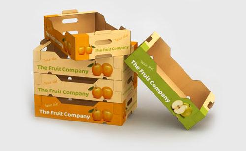 جعبه مقوایی میوه با جنس سی فلوت