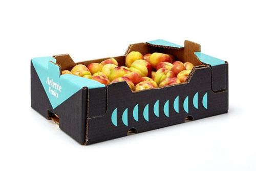 جعبه پنج لا با سلفون برای میوه صادراتی