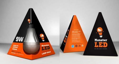 بسته بندی لامپ مثلثی