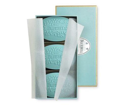 جعبه صابون سه تایی آبی
