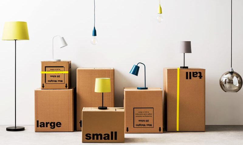 جعبه لامپ و بسته بندی محصولات روشنایی