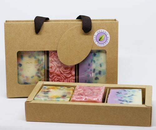 جعبه کادویی صابون سه تایی کرافت
