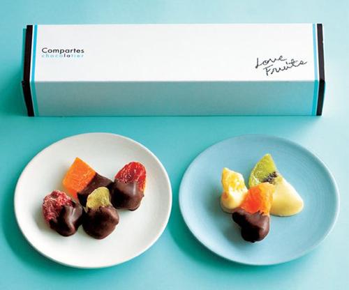 جعبه دراز میوه خشک شکلاتی