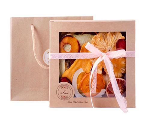 جعبه مربعی میوه خشک کادویی
