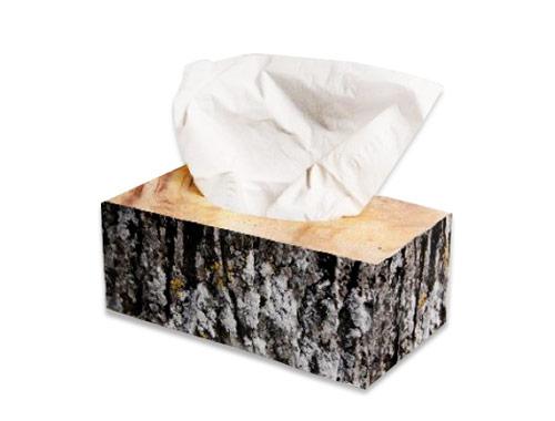 جعبه دستمال کاغذی طرح چوب